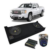 """2007-2013 GMC Sierra Crew Cab Truck Kicker CompS CWS12 Dual 12"""" Sub Box CX600.1"""