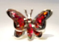 AMAZING Butterfly Ladies RED FIRE Opal Ring Sterling Silver 925 3d Size 9 $225