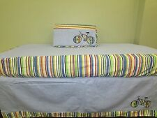 "3 Piece Baby Boy Crib Bedding Set ""Bicycle"" by Castle Hill- Parker"