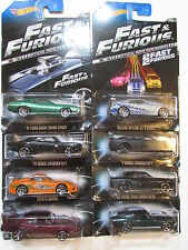HOT WHEELS FAST & FURIOUS COMPLETE SET OF 8 '67 FORD MUSTANG NISSAN