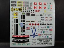 DECALS 1/32 CHEVROLET CORVETTE C6R #63 ou #64 LE MANS 2008  - COLORADO 32165