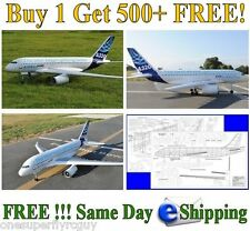 A-320 Airbus Giant Scale RC Airplane Full Size Plans & Templates in PDF Format