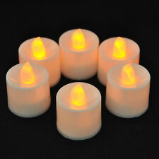 6PCS Flickering Flameless Smokeless LED  Tea Light Candles Wedding Xmas +Battery