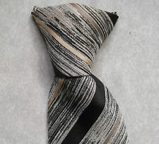 VINTAGE CLIP-ON TIE MENS READY TIED OFFICE SECURITY 1970'S AUTO-CLIP STRIPED