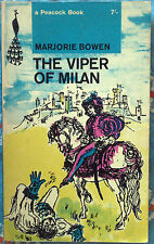 Peacock Book PK18 The Viper of Milan by Marjorie Bowen 1963 Romance of Lombardy
