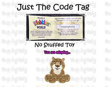 Webkinz Leopard ( unused code tag only ) !CREDIBLE Proven Seller!
