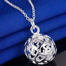 Sterne Kugel Ball Anhänger 925 Silber pl. Halskette Kette Geburtstag Geschenk