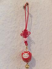 Maneki Neko - kleine Winkekatze als Glücksbringer - mit roten Band - A