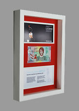 GEORGE BEST MANCHESTER UNITED £5 POUND BANKNOTE FIVER 3D BOX FRAMED GIFT IDEA