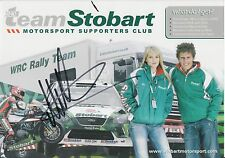 Matthew Wilson Hand Signed Promo Card Ford Rally.