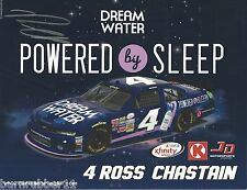 "SIGNED 2016 ROSS CHASTAIN ""DREAM WATER CIRCLE K"" #4 NASCAR XFINITY POSTCARD"