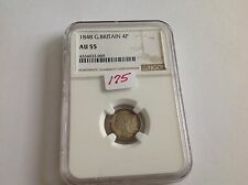 1848 Great Britain Fourpence Ngc Au 55