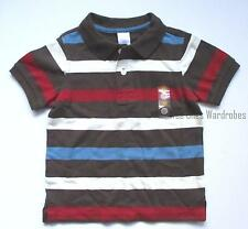 Gymboree Bike Explorer Brown Multi Striped Pique Polo Shirt Top Boys 3T NEW NWT