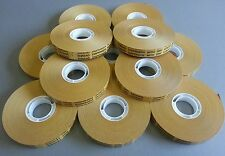 12 x ATG tape 12mm x 50m Double sided adhesive transfer tape LARGE 50 METRE ROLL