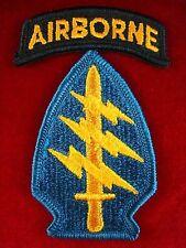 RARE VIETNAM WAR GREEN BERET US ARMY SPECIAL FORCES SHOULDER PATCH UV NEG.