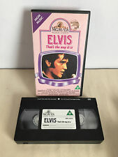 elvis thats the way it is vhs tape