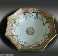 Nippon bowl with hand painted roses and gold rim FREE SHIPPING