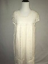 NWT SZ L $168 ANTHROPOLOGIE EYELET CROCHET TUNIC DRESS BY MAEVE LACE