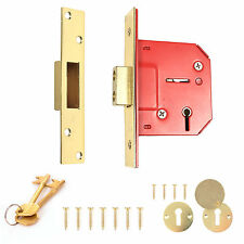 "High Security ~ GUARDIAN ~ 5 Lever Door Dead Lock 63mm/2.5"" Mortice Escutcheons"