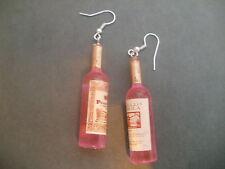 Wine Bottle Party Girl Hen Hight Design Earrings