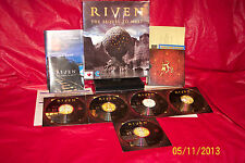 Riven: The Sequel to Myst  (PC, 1997) with User Manual and Box