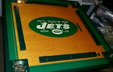 Custom 33 x 33 inch NY JETS domino/poker  table with folding legs and led lights