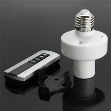 E27 Screw Bombilla luz Enchufe Wireless Remote Control Holder Cap Switch 220V