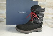 TOMMY HILFIGER Size 38 Ankle Boots Shoes waterproof black new
