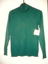 WOMEN THYME GREEN TURTLENECK SWEATER (Relativity), Acrylic wool nylon  blend, S