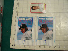 2 postcards unused, announcing MICKEY MANTLE My Favoirte summer 1956 book, 1991