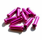 10 x Inner Gear/Brake Bike Cable Wire Ends/Crimps/Tidy/Ferrule/Cap/ PINK/PURPLE