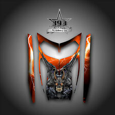 SKI-DOO REV MXZ SNOWMOBILE WRAP GRAPHICS HOOD DECAL 03-07 GUARDIAN ORANGE