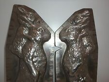 ANTIKE Schokoladenform RIESIGER HASE & SOHN antique chocolate mold BUNNY # 224