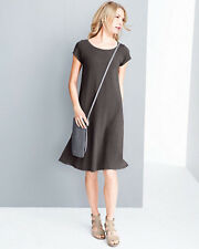 NEW - Eileen Fisher Organic Cotton Ballet-Neck Dress - PL
