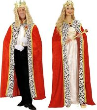 Royal Regal Red Velvet Queen King Deluxe Cape Cloak Fancy Dress Costume 150cm