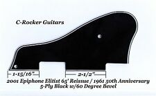 CASINO Elitist 61' 50th Ann. 5-Ply Blk Pickguard 60 Deg for Epiphone Project NEW