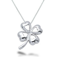 Sterling Silver Four Leaf Clover Necklace - DOJSP084
