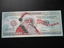 $1 million banknote bill North America Father Christmas $1,000,000 millionaire
