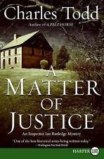 A Matter of Justice LP: An Inspector Ian Rutledge Mystery (Inspector Ian Rutledg
