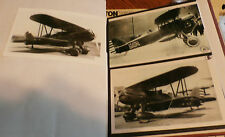 WWII U.S. ARMY BIPLANE AIRPLANES LOT OF 3 B&W 4X6 PHOTOGRAPHS SET #57a
