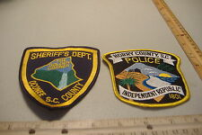 ~HORRY COUNTY & OCONEE COUNTY ~SOUTH CAROLINA~POLICE  PATCHES~