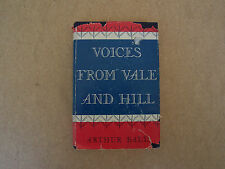 rare? 1st ed bk Voices From Vale and Hill, Central Ohio River Valley W. Virginia