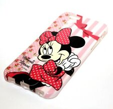 For iPhone 6 / 6S - HARD RUBBER TPU GUMMY SKIN CASE COVER PINK BOW MINNIE MOUSE