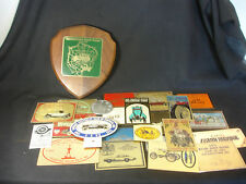 Old Vtg Collectible Antique & Classic Car Advertising Plate Plague LOT