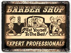 BARBER SHOP hair salon VINTAGE style metal SIGN funny wall display PLAQUE 003