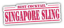 Singapore Sling Cocktail Stamp Car Bumper Sticker Decal 6'' x 2''