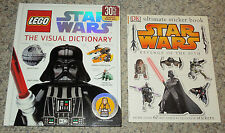 (Lot of 2 Books) Lego Star Wars The Visual Dictionary & Star Wars Sticker Book