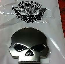 HARLEY DAVIDSON WILLIE G.® SKULL Medallion from 2012 CVO Road Glide  peel&stick