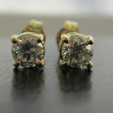 New .25ct (quarter carat) Diamond 18ct Yellow Gold Stud Earrings