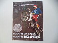 advertising Pubblicità 1976 ALPINESTARS e MOTO KTM e ALESSANDRO GRITTI